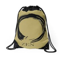 7 DAY'S OF SUMMER-YOGA ZEN RANGE- GOLD ENSO Drawstring Bag