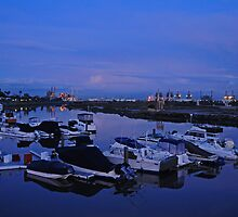 Shoreline Village Marina Port in Long Beach, California by Tom-Sky