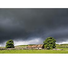 Sunlit Barn near Malhamdale Photographic Print