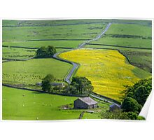 Dales above Settle Poster