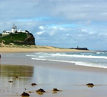 Solitude on the Beach-Nobby's Beach,Newcastle,NSW by Craig Stronner