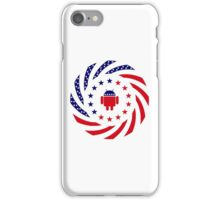 Android Murican Patriot Flag Series iPhone Case/Skin