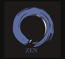 7 DAY'S OF SUMMER-YOGA ZEN RANGE- BLUE ENSO Kids Tee
