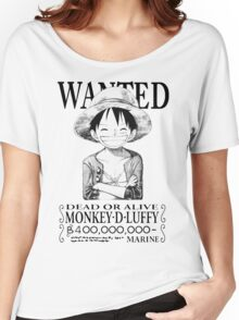 WANTED Luffy - Black Women's Relaxed Fit T-Shirt