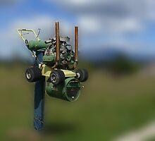 Lawnmower Letterbox by Josie Jackson