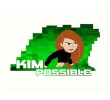 Kim Possible  Art Print