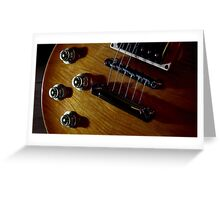 Guitar Icon : '59 Flametop Les Paul (off-camera flash) Greeting Card