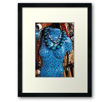 Teal Figure Framed Print