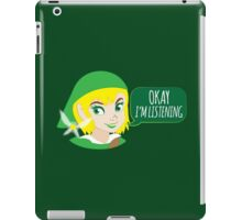 If LINK was a girl (OKAY! I'm listening!) iPad Case/Skin