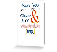 Doctor Who Clara and Eleven Greeting Card