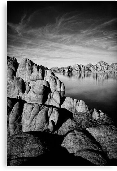 Watson Lake in Black and White by Bob Larson