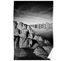 Watson Lake in Black and White Poster