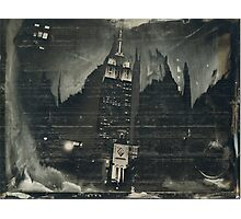 Empire At Night (Wet Plate Collodion Tintype) Photographic Print