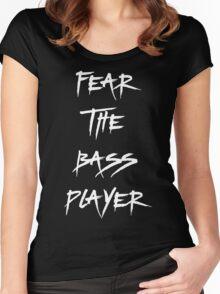 Fear The Bass Player T Shirt Women's Fitted Scoop T-Shirt