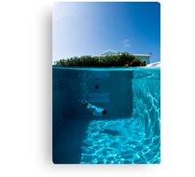 Diving the Hotel Pool Canvas Print