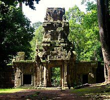 Ancient Khmer Gate - Angkor, Cambodia. by Tiffany Lenoir