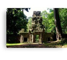 Ancient Khmer Gate - Angkor, Cambodia. Canvas Print