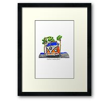 Surf Bus Framed Print