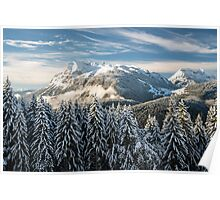 French Alps from Plateau d'Agy in Winter Poster