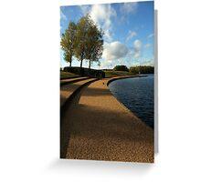 Lakeside view - Caldecotte, Milton Keynes Greeting Card