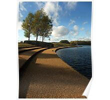 Lakeside view - Caldecotte, Milton Keynes Poster
