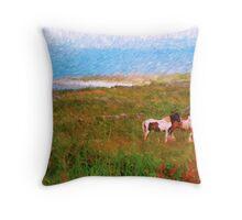 Irish Ponies Throw Pillow