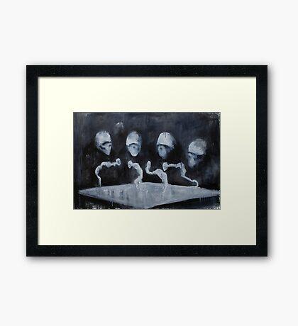 Nocturn 0: Sentences Wriggle Framed Print
