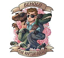 Raptor Squad Photographic Print