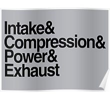 Intake & Compression & Power & Exhaust Poster