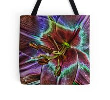 Multi - Colored Lily Tote Bag