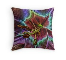 Multi - Colored Lily Throw Pillow