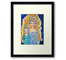 And we walked with butterfies Framed Print