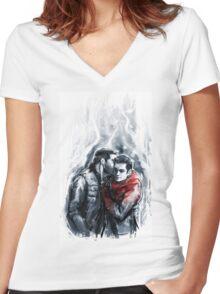 sterek Women's Fitted V-Neck T-Shirt