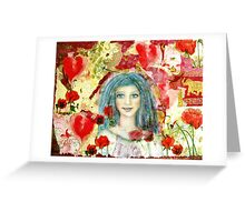The healing smile Greeting Card
