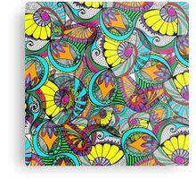 colorful zentangle Metal Print