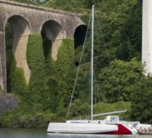 Cruising Along La Vilaine, Brittany, France Sticker