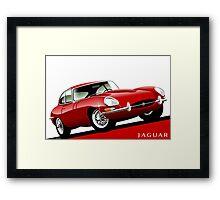 E-Type Jaguar Series 1 Coupe red Framed Print