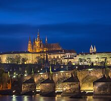 Prague Castle at Night by Nick Jenkins