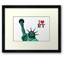 I love NY - Statue of liberty MUGS and more.... Framed Print