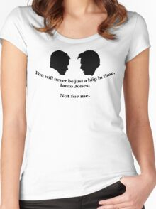 Janto Slash Print (black) Women's Fitted Scoop T-Shirt