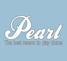 White Pearl  Drums Kids Tee