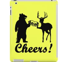 Bear, deer, beer, & cheers iPad Case/Skin