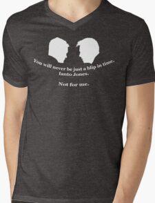 Janto Slash Print (white) Mens V-Neck T-Shirt