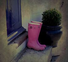 Pink, Wellies, Rubyblossom, Photoshop,doorstep by Rubyblossom