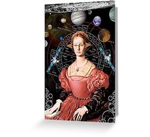 Center of her universe Greeting Card