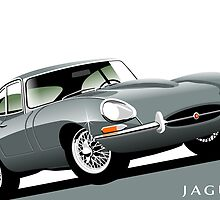 E-Type Jaguar Series 1 Coupe silver by car2oonz