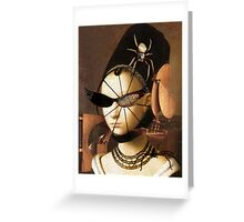 Lady Spinner Greeting Card