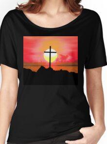 Sunset Cross Women's Relaxed Fit T-Shirt