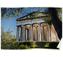 Temple of Hephaestus, Rear View Poster