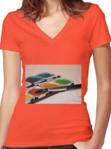 Brush and Paintbox Women's Fitted V-Neck T-Shirt